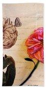 The Beauty Of A Dried Rose Bath Towel
