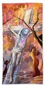 The Bible Crucifixion Bath Towel