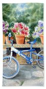 The Blue Bicycle Bath Towel