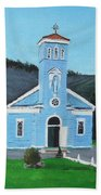 The Blue Church Hand Towel