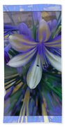 The Blue Flowers Of Melanie  Bath Towel