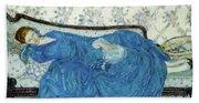 The Blue Gown, 1917  Bath Towel