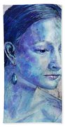 The Blue Jewel Bath Towel