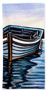 The Blue Wooden Boat Bath Towel