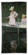 The Boat At Giverny Hand Towel