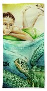 The Boy And The Turtle Bath Towel