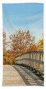 The Bridge To Autumn Bath Towel