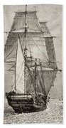 The Brig Hms Beagle From Journal Of Bath Towel