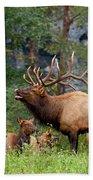 The Bugling Bull Elk Bath Towel
