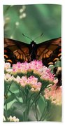 The Butterfly And The Bumblebee Bath Towel