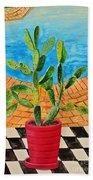 The Cactus From Nigeria Bath Towel