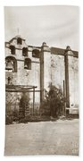 The Campanario, Or Bell Tower Of San Gabriel Mission Circa 1880 Bath Towel