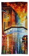 The Canals Of Venice Bath Towel