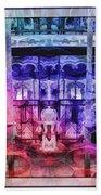 The Carousel Of Alice   Bath Towel