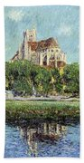 The Cathedral At Auxerre Bath Towel