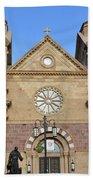 The Cathedral Basilica Of St. Francis Of Assisi, Santa Fe, New M Bath Towel