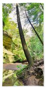 The Caves And Trail At Old Man's Cave Hocking Hills Ohio Bath Towel
