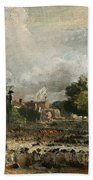 The Celebration In East Bergholt Of The Peace Of 1814 Concluded In Paris  Bath Towel