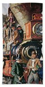 The Ceremony Of The Golden Spike On 10th May Hand Towel