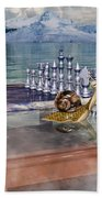 The Chess Game Bath Towel