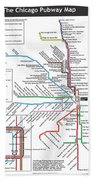 The Chicago Pubway Map Hand Towel