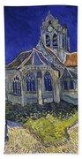 The Church At Auvers Bath Towel
