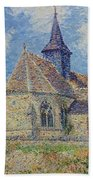 The Church At Porte-joie On The Eure By Gustave Loiseau Bath Towel