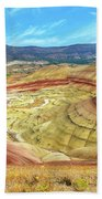 The Colorful Painted Hills In Eastern Oregon Bath Towel