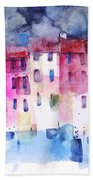 The Coloured Houses Of Portofino Hand Towel