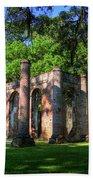 The Columns Old Sheldon Church Ruins Bath Towel