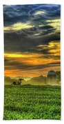 The Cornfield Dawn The Iron Horse Collection Art  Bath Towel