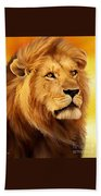 The Courageous Cecil - African Lion Bath Towel