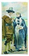 The Courtship Of Miles Standish Bath Towel