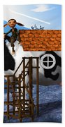 The Cow House Bath Towel
