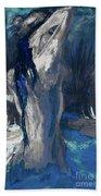 The Creekside Bath Of Alice In Royal Blue Bath Towel