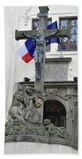 The Cross And Flags Bath Towel