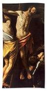 The Crucifixion Of Saint Andrew Bath Towel