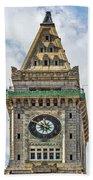 The Customs House Clock Tower Boston Bath Towel
