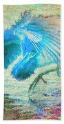 The Dance Of The Blue Heron Bath Towel