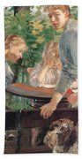 The Daughters Of The Artist In The Garden Bath Towel