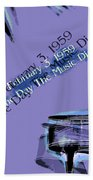 The Day The Music Died - Feb 3 1959 Hand Towel