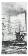 The Days Of Steam And Sail Bath Towel