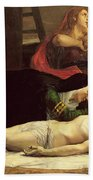 The Descent Of Christ From The Cross  Bath Towel