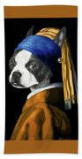The Dog With A Pearl Earring Bath Towel