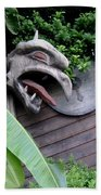 The Dragon In The Garden Bath Towel