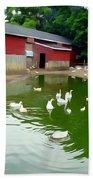 The Duck Pond Bath Towel