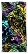 The Duel Of The Dragons  Bath Towel