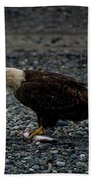 The Eagle And Its Prey Bath Towel