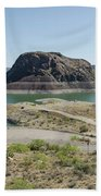 The Elephant At Elephant Butte Lake  Hand Towel by Allen Sheffield