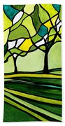 The Emerald Glass Forest Hand Towel